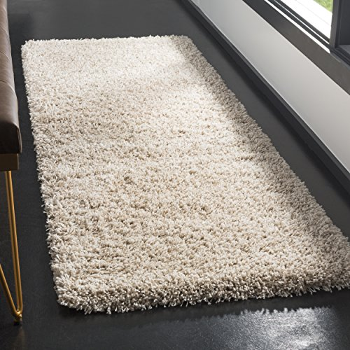 Safavieh California Shag Collection SG151-1313 Beige Runner Rug (2'3