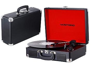 Tocadiscos de Vinilo Vintage, Tocadiscos estéreo de 3 velocidades ...