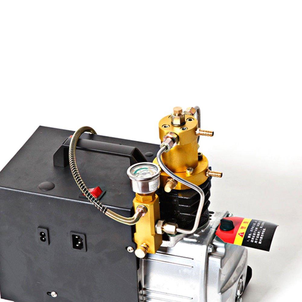 Bomba de aire eléctrica de alta presión de SENDERPICK, 4500PSI 300Bar 30MPA, bomba de compresor eléctrica, compresor de aire PCP adecuado para motocicletas ...