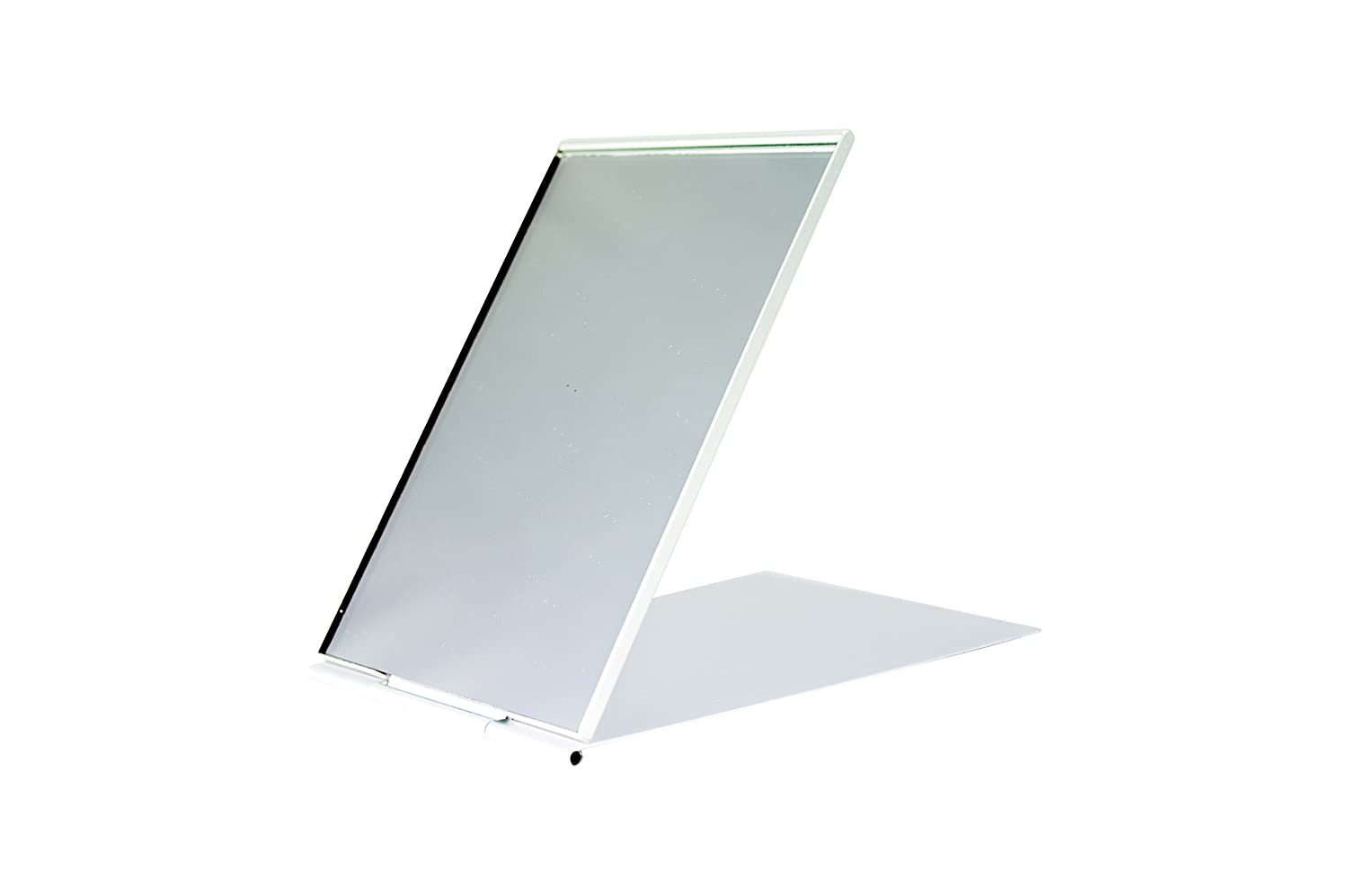 Folding Travel Mirror (10x6.5cm) - Small Unisex Stainless Steel Folding Mirror With Stand by EpicTraveller.co | Ideal for Camping, Men, Women, Flying, Shaving, Travelling, Grooming and Makeup