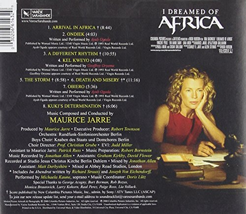I Dreamed of Africa: Original Motion Picture Soundtrack (2000 Film)