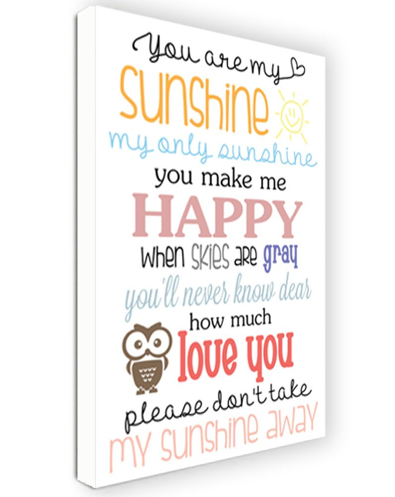Amazon.com : CANVAS PRINT FRAMED You are my sunshine my only ...