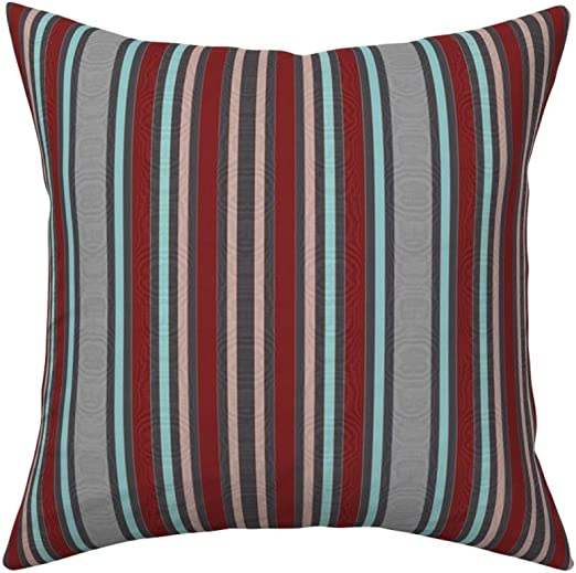 Amazon.com: Roostery Throw Pillow, Moire Victorian Vintage Stripes