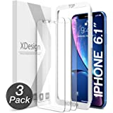 XDesign Glass Screen Protector Designed for Apple iPhone XR 2018 (3-Pack) Tempered Glass with Touch Accurate and Impact Absorb + Easy Installation Tray for iPhone XR [Fit with Most Cases] - 3 Pack