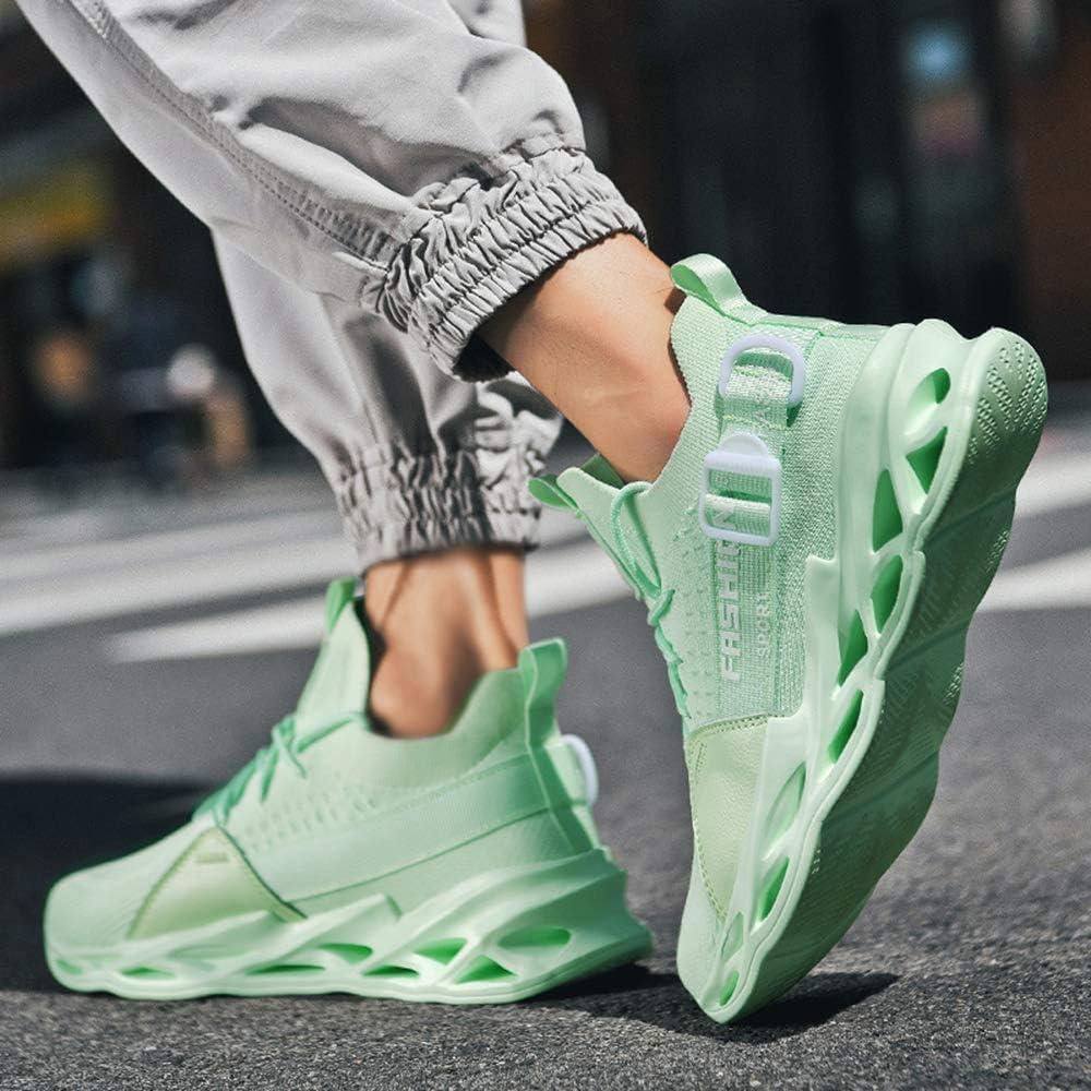 AARDIMI Herren Laufschuhe Fitness straßenlaufschuhe Sneaker Sportschuhe atmungsaktiv Anti-Rutsche Gym Fitness Schuhe Apfelgrün