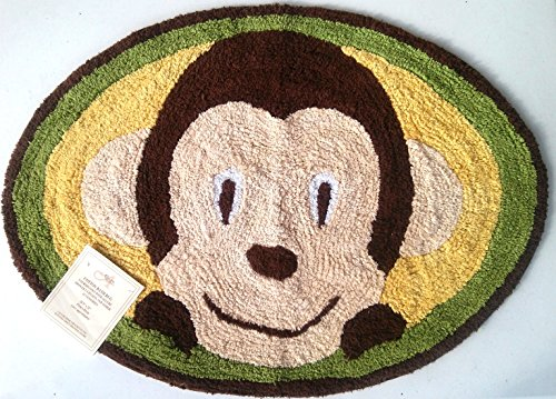 Motion Monkey Cotton Bath Rug - Monkey Rug