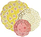 Talking Tables Truly Scrumptious Floral Doilies for a Tea Party, Birthday or Baking, Multicolor (48 Pack)