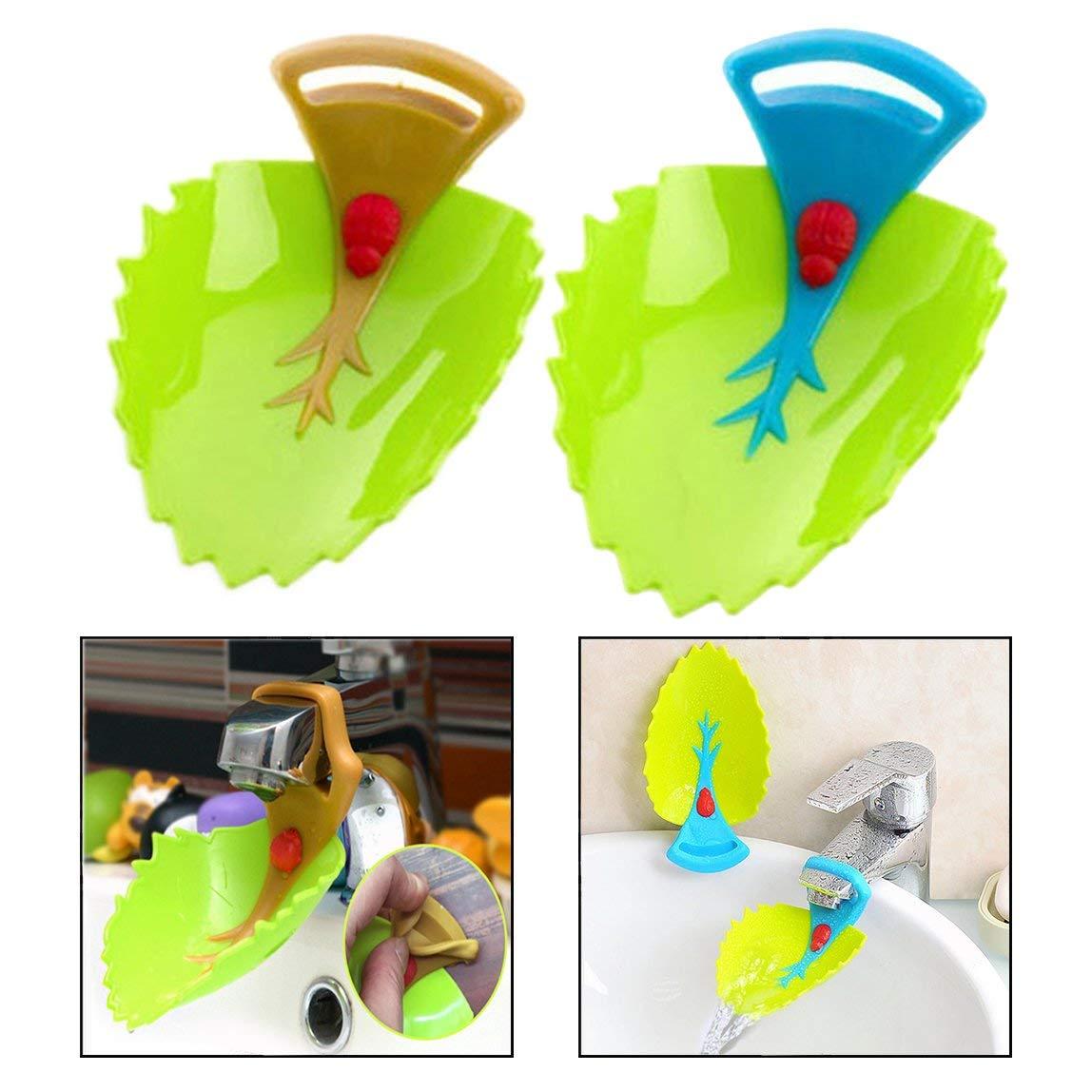 2 Leaf Shape Faucet Faucet Extender Child Child Kid Hand wash Sink Random Children Cartoon Water Slide