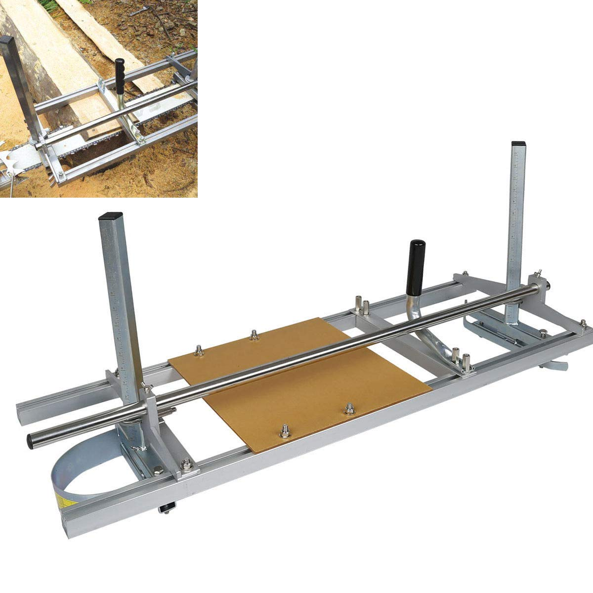 TC-Home 14'' - 36'' Chain Saw Mill Log Planking Lumber Cutting Portable Aluminium & Steel for Builders/Woodworkers