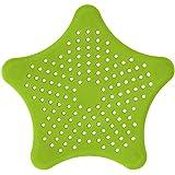 millet16zjh ⓂⒾⓁAnti-Clogging Floor Drain Filter,Five-Pointed Star Kitchen Shower Sink Strainer -Green