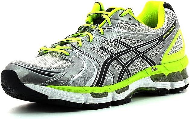 Zapatillas para correr Asics T2C4N Gel Kayano 18 Hombre Plata/Amarillo (Talla 41.5 - Yellow): Amazon.es: Zapatos y complementos
