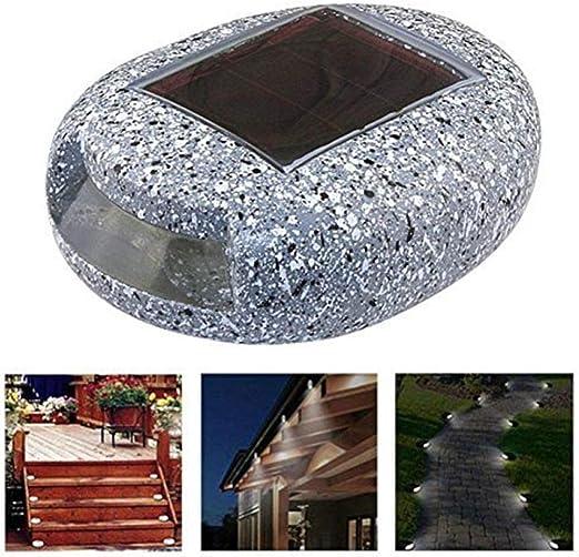 Luz solar de césped Escalera exterior Piedra de imitación Luz de calle Jardín Patio Jardín Luz LED Impermeable: Amazon.es: Iluminación