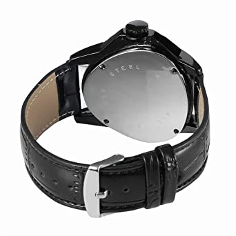 Luxury Men Automatic Self Wind Mechanical Wrist Watches Top Brand Triangle Black Case Silver Movement Mens