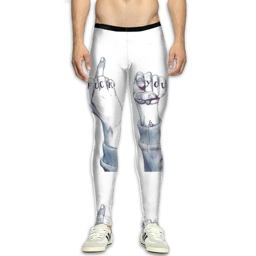 Multicolor CFWMKO Men¡¯s Compression Fuck You Pants Baselayer Running Tights Tights Tights 3D Print Fitness Sports Leggings 042e2e