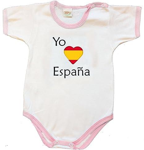 Zigozago - Body mameluco bebè ESPAÑA - Talla: 6 meses Color: rosa - Para el artículo personalizado, seleccione https://www.amazon.es/dp/B07DWP9KZV: Amazon.es: Bebé