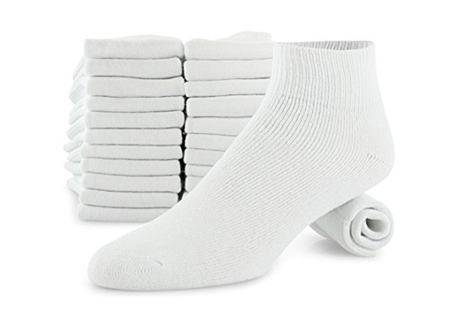 Men's 12-pack Big & Tall Cotton Quarter Cushioned sock fits size 12-14.5