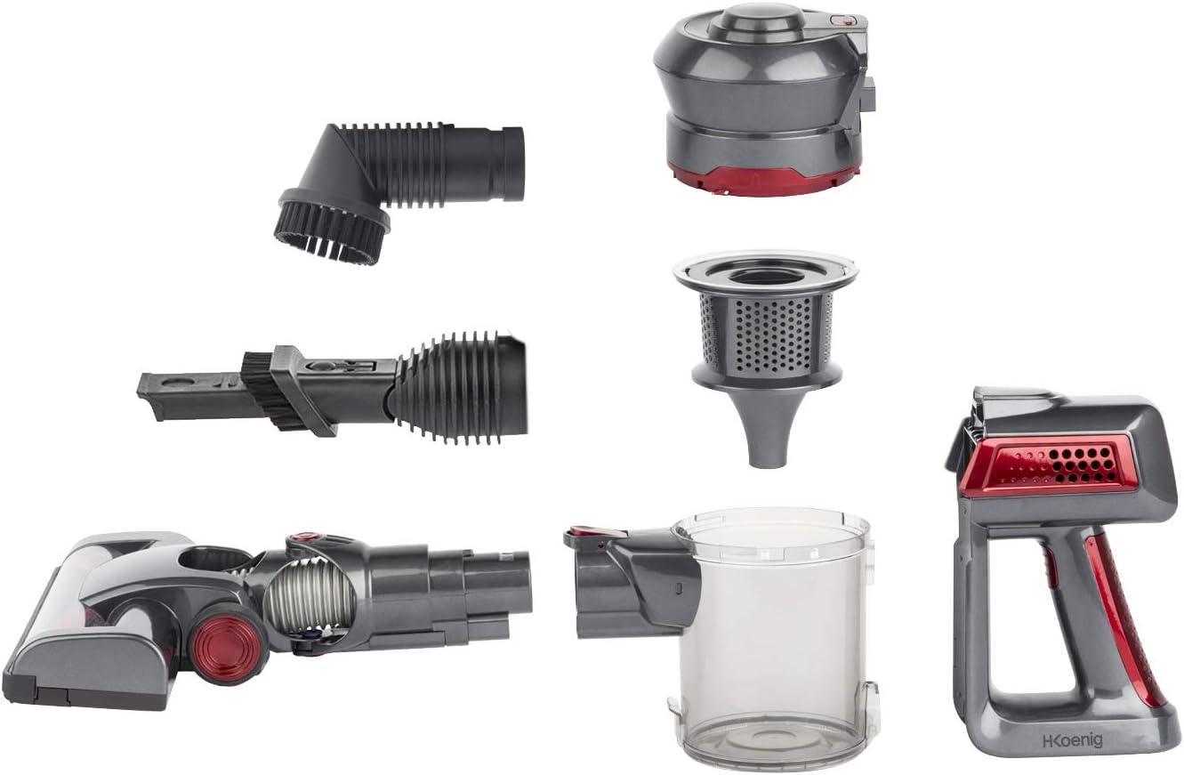 H.Koenig UP600 Aspiradora escoba 2 en 1, 100 W, 22.2 V, Filtro ...