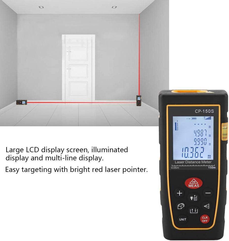 Amarillo Medidor de Distancia L/áser Digital Medida M/áxima Distancia de Medici/ón de 120 m 150 m cp-150s