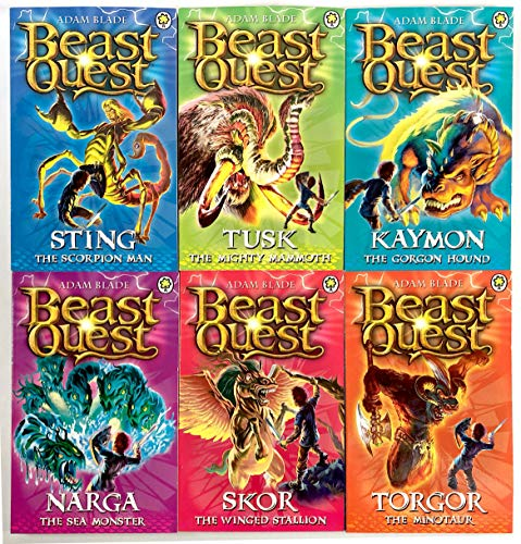 (Beast Quest Box Set Series 3 The Dark Realm 6 Books Collection Set (Books)
