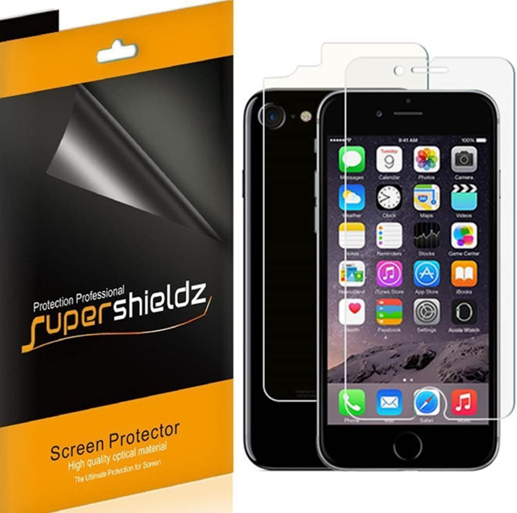 Supershieldz for Apple iPhone SE (2020, 2nd Generation), iPhone 8 and iPhone 7 (Front and Back) Full Body Anti Glare and Anti Fingerprint (Matte) Screen Protector Shield (3 Front and 3 Back)