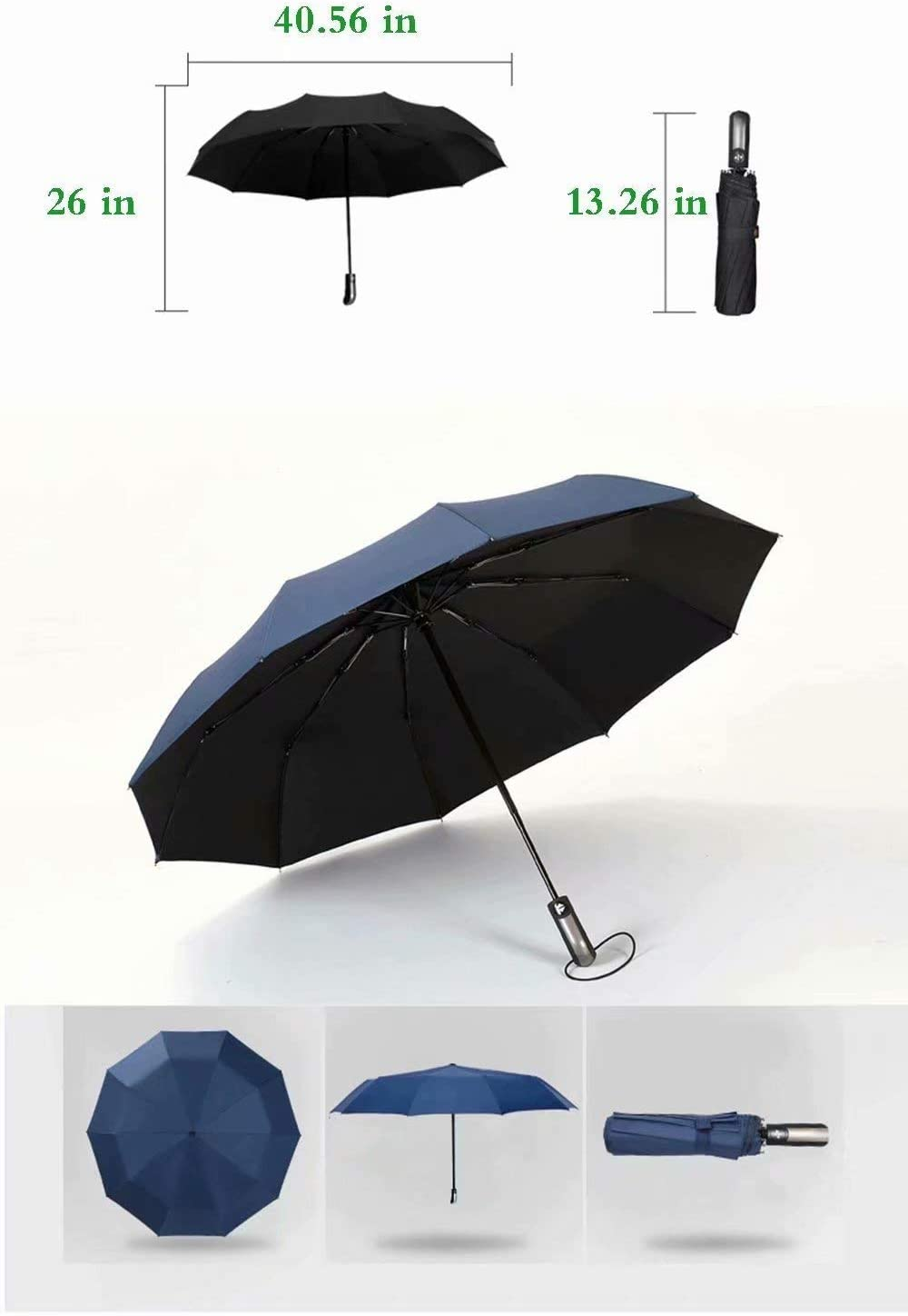 Automatic Opening and Closing,Misty Morning Over Waterfalls in Plitvice Park Croatia,Windproof 42 Inches Men Ladies RLDSESS Waterfalls Compact Patio Umbrella 10 Ribs Rainproof