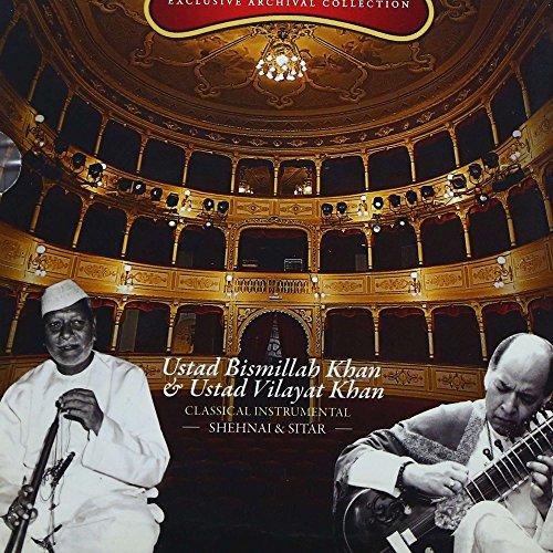 Live In Concert: Ustad Bismillah Khan & Ustad Vilayat Khan (Classical Instrumental): Shehnai and Sitar (Set of 2 Audio CDs) by Saregama (Image #1)