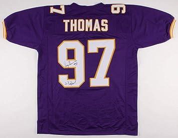 hot sales 487f8 e851b Henry Thomas Autographed Signed Minnesota Vikings Jersey ...