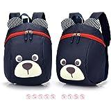 FULLIN Deep Blue Cute Cartoon Bear Children School Bag Rucksack Reduced Primary School Students Packs Of Light Children Shoulder Bag