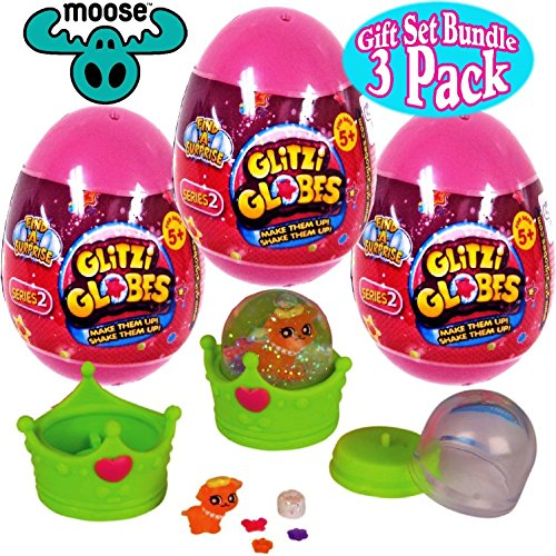 Glitzi Globes ''Series 2'' Find-A-Surprise Egg Mystery Packs Gift Set Party Bundle - 3 Pack by Glitzi Globes