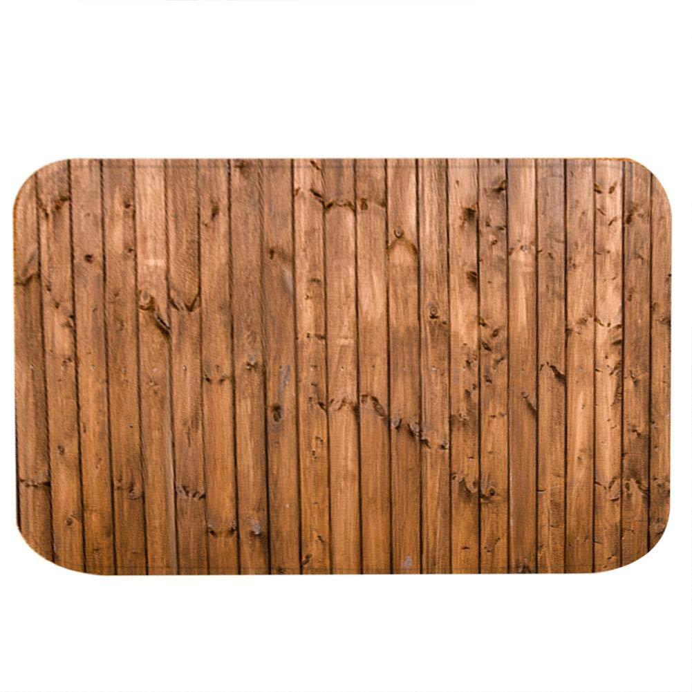 40 * 60cm KEYREN Alfombrilla Antideslizante Alfombra marr/ón con decoraci/ón de Grano de Madera Alfombra Alfombra de ba/ño Alfombrilla Antideslizante