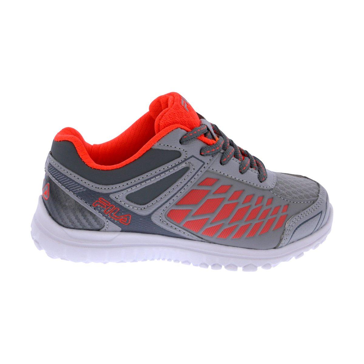 Fila Lightning Strike Kid's Shoes Size 3 Grey/Orange