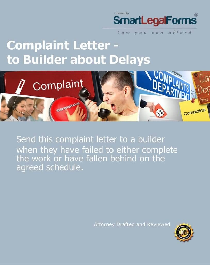 Amazon com: Complaint Letter - to Builder about Delays [Instant