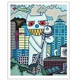 Matthew Porter Art Wall Decor Art Print, Got Coffee Cat, Baby & Kids Zone