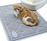 Vivaglory Cat Litter Mat, Keeping Kitty Litter Mess Under Control, Large(35'×23') Enough for Cat Litter Box, BPA & Phthalate Free, Durability, Soft on Paws, Easy to Clean, Grey