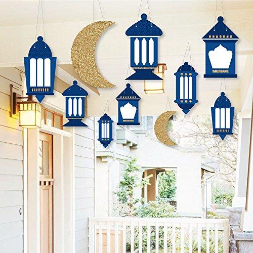Hanging Ramadan - Hanging Outdoor Decor - Eid Mubarak Decorations - 10 Pieces