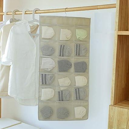 Organizadores colgantes, organizador de armario, bolsa de almacenamiento de ropa interior, almacenamiento colgante