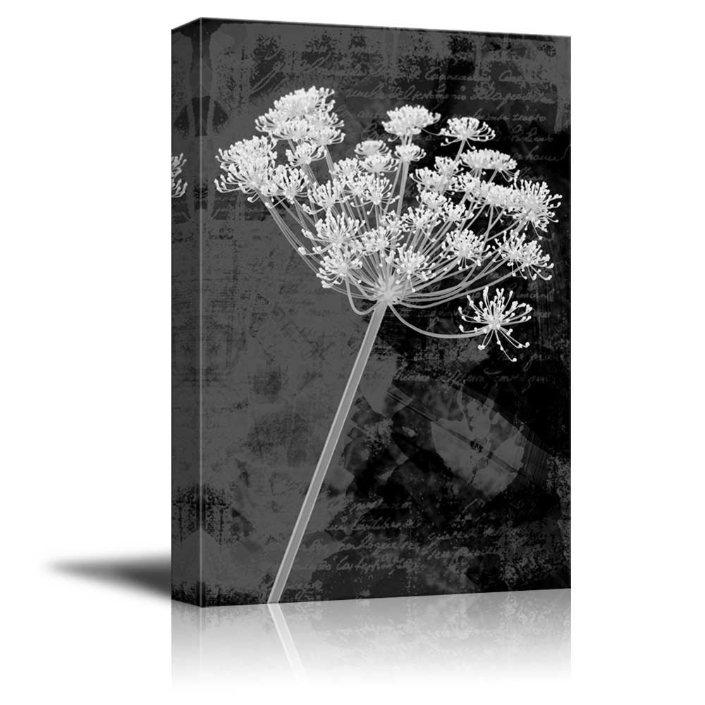 Vintage Styled Bouquet Of Flowers In Black And White Canvas Art