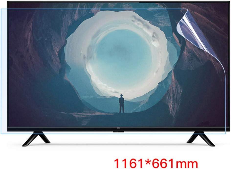 Televisor LCD De 50-58 Pulgadas Protector De Pantalla Antirreflejo/Anti Luz Azul/Película Antiarañazos, Alivia La Tensión Ocular, Superficie Mate, para HDTV LCD, LED, OLED,55Inch: Amazon.es: Hogar