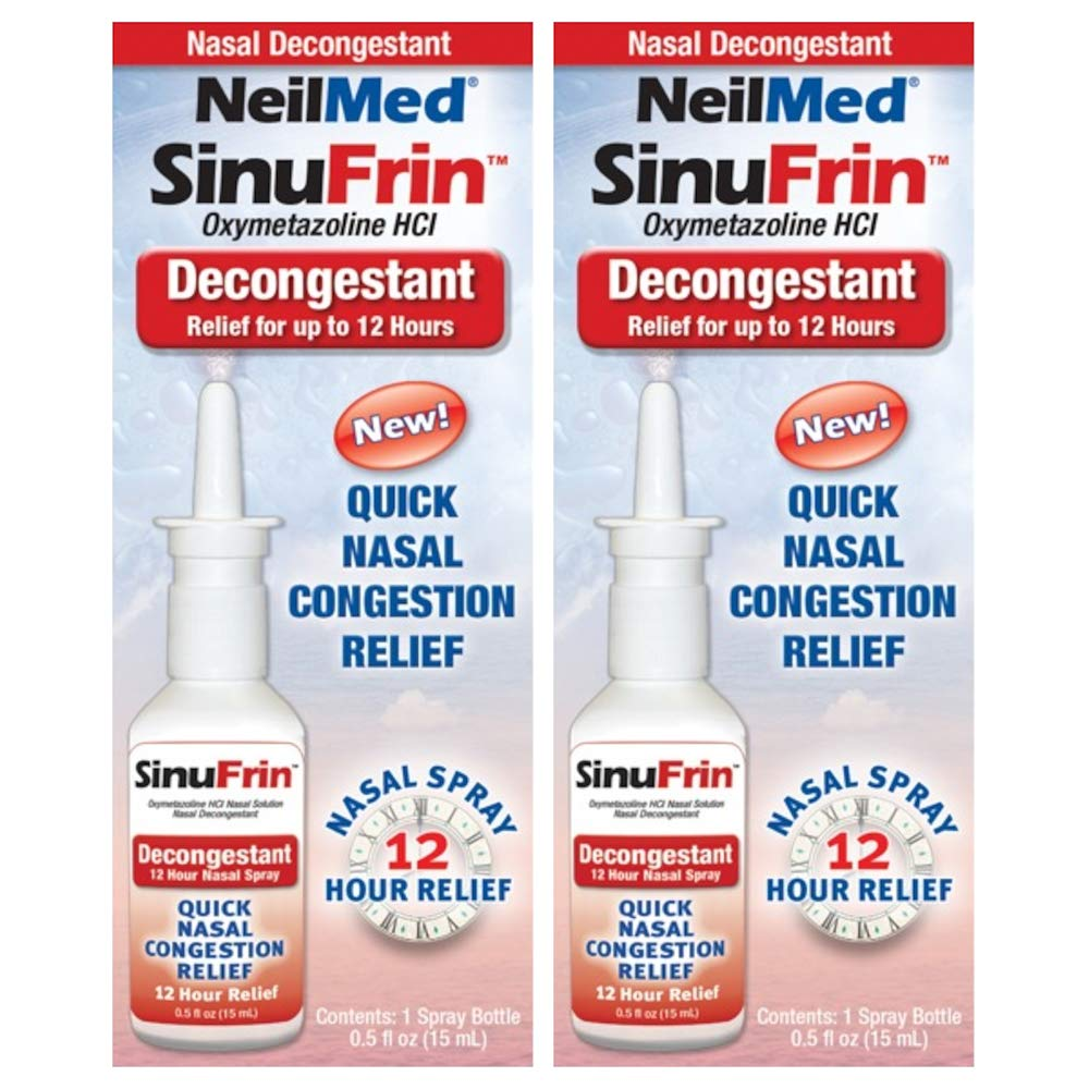 NeilMed Sinufrin Decongestant Relief Spray, 2 Count by NeilMed