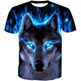 SEVENWELL Men Original Animal Printed T-Shirt Cool Casual 3D Digital Graphics Tee Tops