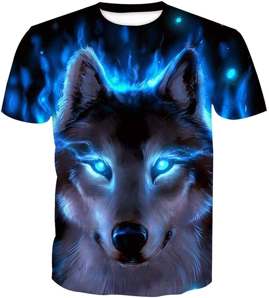 b80aa6ea51bb SEVENWELL Men's 3D Pattern Printed Short Sleeve T-Shirts Casual Graphics  Tees Funny Print Shirts