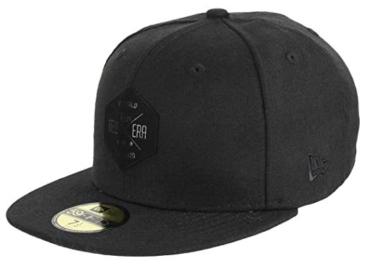 b560ccdc97c New Era - 59fifty Basecap - Hexagon Patch - Black On Black Damen Herren  Fitted Cap Mütze - Limitiert  Amazon.de  Bekleidung