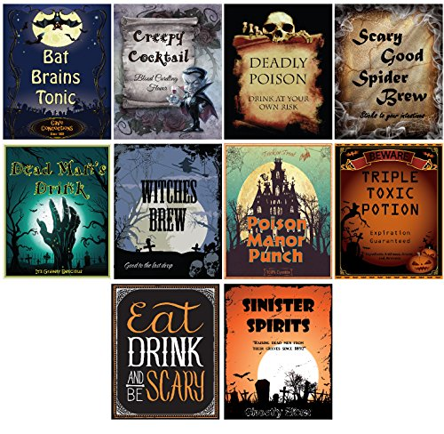 20 Spooktacular Halloween Bottle Labels - 5 Inch X 4 Inch for $<!--$7.99-->