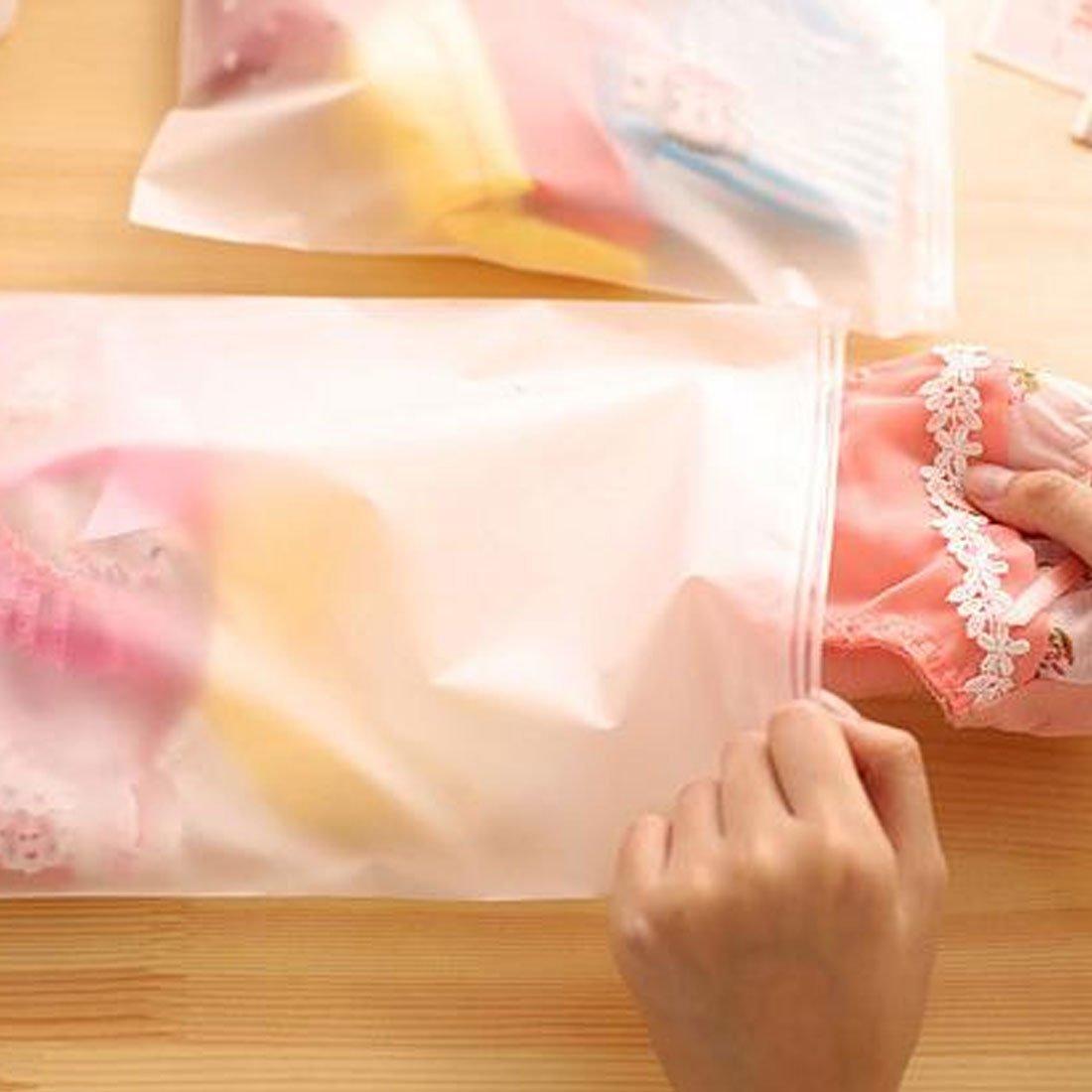 Amazon.com: eDealMax EVA Exterior Con cremallera ropa que embala organizador de viajes Bolsa de almacenamiento DE 35 x 25cm 10pcs Blanco claro: Home & ...