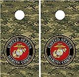 Marines Military Digital Camo LAMINATED Cornhole Board Decal Wrap Wraps
