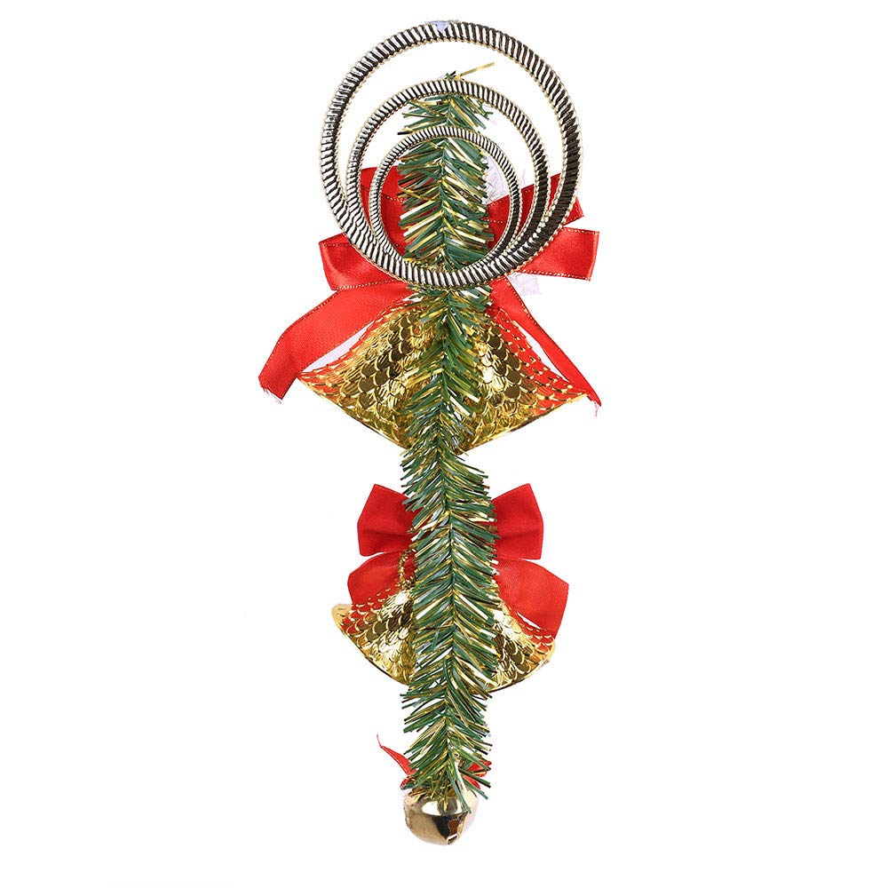 MomeChristmas Bell Ornaments 1PC Wall Hanging Supplies,Home Door Window Party Ornaments (Gold)