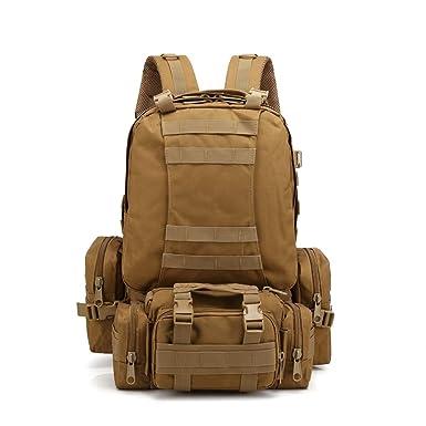 Mochila Militar,JiaMeng Mochila táctica Militar al Aire Libre Paquete de Asalto Mochila de Combate Mochila de Trekking Mochila Hombre Senderismo Deporte ...
