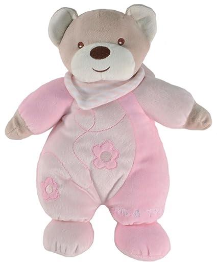 Tris&Ton Peluche osito infantil bebé niño niña, oso peluche mimos rosa suave felpa modelo Mimos