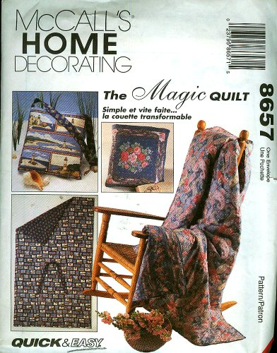McCall's Home Decorating Pattern 8657 - The Magic Quilt
