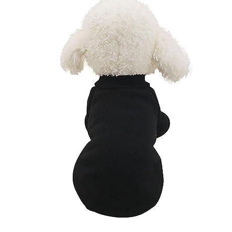 INTERNET Ropa para Perros, Ropa De Abrigo para Mascotas Abrigo De Cachorro (XS, Negro)